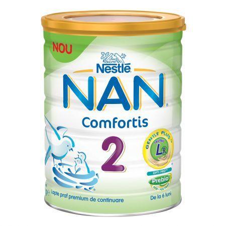 Nestle NAN Бебешко адаптирано мляко 2 Comfortis  6м+  800 гр.